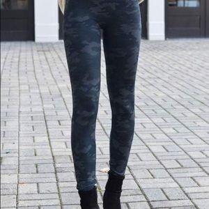 SPANX Grey Camouflage Leggings Like New Worn Once